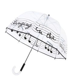 "Felix Ray ""Singin' in the Rain"" bubble umbrella. This is golden."