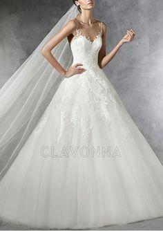 Spaghetti Shoulder Straps Wedding Dress - 1507886 - Wedding Dresses