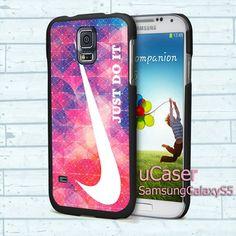 "Nike Just Doit triangel For Samsung Galaxy S5 5.1"" screen Black Case"