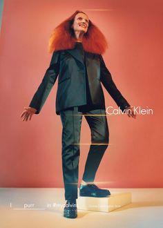 Grace Coddington Returns to Her Modeling Roots for Calvin Klein's Fall Ads Photo: Tyrone Lebon / Courtesy of Calvin Klein