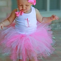 Zilly Bean Im One! Pink and Hot Pink Tutu Set