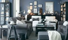 Love the gray and blue tones with the black and white elements tied in. Gorgeous.