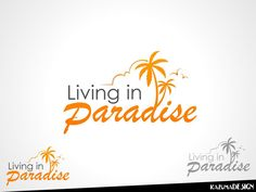 logo for Living in Paradise by kazumadesigns