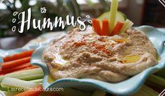 Receta fácil para hacer hummus de garbanzo, una forma sencilla de hacer un dip super saludable y nutritivo, acompáñalo con galletas saladas o verduritas.