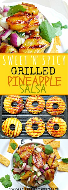 This Grilled Pineapple Salsa is gorgeously sweet and sticky with a gentle kick of spice. The perfect addition to your favourite summer dishes.