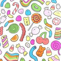 Kawaii candy doodle