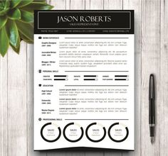 Black and White Resume Template by @Graphicsauthor