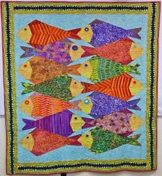 Ruth McDowell Quilts Art | quilts feature the asymmetrical School of Fish block pattern from Ruth ...