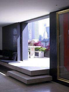Donna Karan's Apartment in Manhattan | Yatzer Interior Architecture, Interior Exterior, Interior Design, Design Design, House Design, Richard Powers, Floating Stairs, Floating Floor, Manhattan Apartment