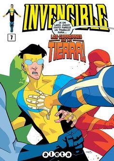 Portada del #Invencible Nº7 de Cory Walker. Edición española de Aleta Ediciones para la edición digital en #Koomic.