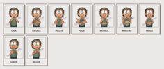 Juegos y Material Didáctico en Lengua de Señas Argentina®: Juegos Online Gratis, Spanish, Singing, Comics, Cards, Image, Joel Osteen, Google, Alphabet