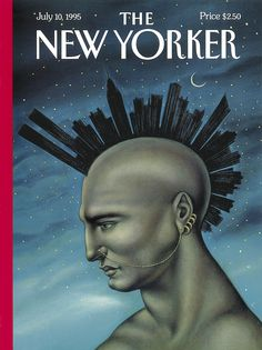 """The New Yorker - Monday, July 10, 1995 - Issue # 3665 - Vol. 71 - N° 19 - Cover """"Mohawk Manhattan"""" by Anita Kunz"""