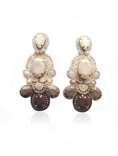 VENTI VANILLA LATTE ombre soutache earrings by BlackMarketJewels, £75.00
