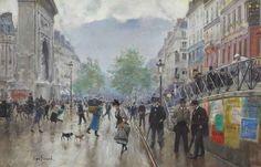 Jean Béraud (French, 1849-1936). Le boulevard Saint-Denis à Paris