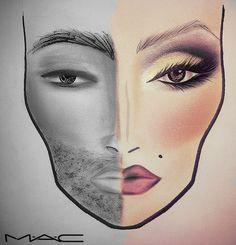 M·A·C face charts
