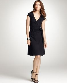 Not that I need another wrap LBD, but this one is fabulous.