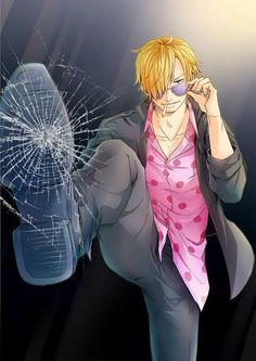 Anime lock screen - Sfondo telefono - One Piece - OP - Sanji - Gamba nera - Black leg