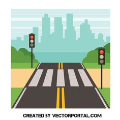 Pedestrian crossing with traffic lights - Free vector image in AI and EPS format. Transportation Preschool Activities, Transportation Room, Cross Clipart, Cross Drawing, Mandarin Lessons, Pedestrian Crossing, Zebra Crossing, Cartoon House, Shapes For Kids