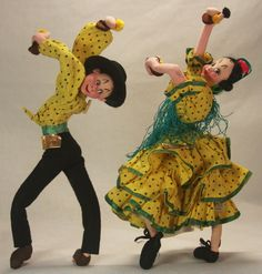 Vintage Klumpe Matching Flamenco Dancers C1950 | eBay