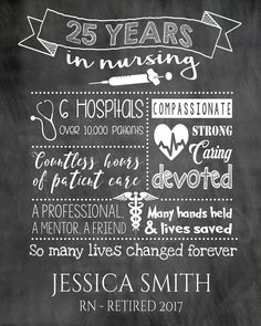 Retirement Gift for a nurse Nurse Thank you by TheArtyApples ...