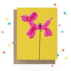Animal Birthday, Dog Birthday, Birthday Cards, Birthday Parties, Happy Birthday, Balloon Dog, Balloon Animals, Cumpleaños Diy, Paw Print Art