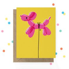 Balloon Dog Birthday Card