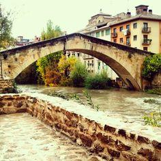 Puente en Estella. Camino de Santiago