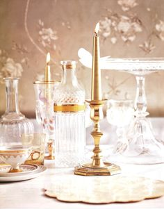 I love this fine crystal accented with gold and porcelain.