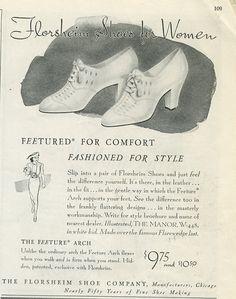 Classically beautiful 1930s Florsheim shoes for women.