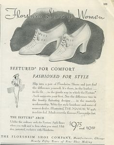 Classically beautiful 1930s Florsheim shoes for women. More