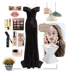 """On set"" by ichamerzha on Polyvore featuring White Label, Bobbi Brown Cosmetics, Rachel Gilbert, Cartier, Jimmy Choo, La Mer, Chantecaille, Yves Saint Laurent, Sunpan and Grandin Road"
