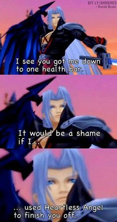 Kingdom Hearts 2 I seriously hate Sephiroth!!! -.-