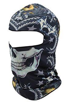 Quick-Dry Half Masks KINGREE Skull-14 Motorcycle Helmets Liner Neck Gaiter Balaclava Ski Mask