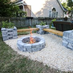 43 Extraordinary Diy Backyard Fire Pit Decoration Ideas That You Need To Have - When it comes to backyard fireplaces people often ask if they should build or buy. The answer will depend on your personal circumstances. Diy Fire Pit, Fire Pit Backyard, Fire Pit Bench, Garden Fire Pit, Fire Pit Seating, Fire Pit Area, Garden Bed, Landscape Design, Garden Design