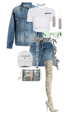 """All About The Money HUNTY!!"" by monroestyles ❤ liked on Polyvore featuring Yves Saint Laurent, Balenciaga, Off-White, Alexander Wang and Gucci"