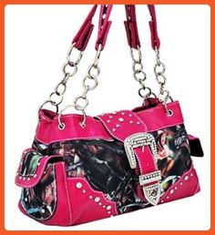 Hot Pink Camouflage Western Buckle Purse - Athletic shoes for women (*Amazon Partner-Link)