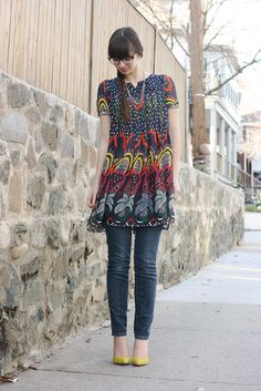 This dress is so vibrant and fun.