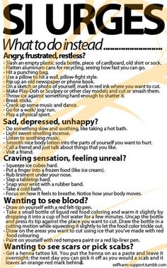 Self Injury Tips. Borderline Personality Disorder Tips. Self Harm Tips. Mindfulness Techniques for Self Harming. Counseling Activities, School Counseling, Therapy Activities, Therapy Worksheets, Health Activities, Work Activities, Family Activities, Therapy Tools, Art Therapy