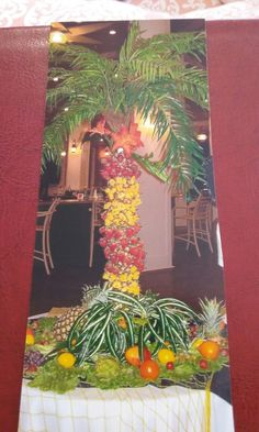 Fruit palm tree,for a tropical wedding I did.