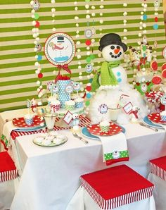 Winter/Christmas party tablescape by enid