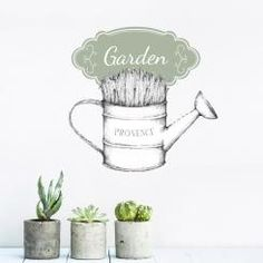 """A shabby chic style decoration for your walls! Vintage wallsticker innspired by """"Provence"""" and France"""