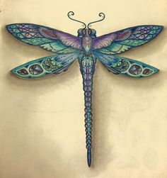 Dragonfly art Dragonfly Tattoo Design, Dragonfly Jewelry, Dragonfly Art, Tattoo Designs, Dragonfly Tatoos, Dragonfly Drawing, Enchanted, Johanna Basford Coloring Book, Gourd Art