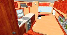 Our readers have been requesting a detailed floor plan of the Good News Bus for some time. Julie is our design expert at the Good News B. New Bus, Rv, Floor Plans, Flooring, How To Plan, Luxury, Home, Design, Travel