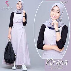 Dress Muslim Modern, Muslim Dress, Casual Hijab Outfit, Ootd Hijab, Hijab Fashion, Fashion Clothes, Fashion Dresses, Casual Styles, Muslim Women