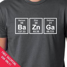 Bazinga Ba Zn Ga Periodic Elements Nerd TV Show Funny Long Sleeve Thermal