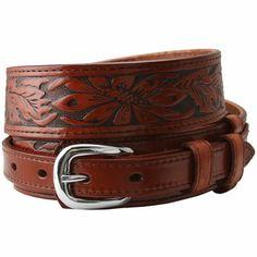Tooled Leather Ranger Belts