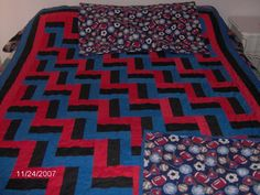 1.Picket Fence Quilt, For My Grandson Daniel with a pillow case.