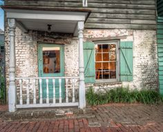 Crooked homes in Savannah Georgia. Photograph of a Savannah Home