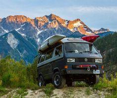 vanderlust Vw T3 Camper, Vw Caravan, Vw Bus T3, Camper Van Life, Kayak Camping, Camping Survival, Outdoor Camping, Vw T3 Doka, Volkswagen Minibus