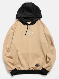 Product Contrast Color Letter Pocket Hoodie available for Zaful WW, get it now ! Mens Fashion Wear, Fashion Outfits, Trendy Fashion, Fashion Black, Lolita Fashion, Fashion Styles, Fashion Fashion, Fashion Ideas, Vintage Fashion